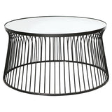 Round Black Mirrored Coffee Table