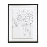 Botanical Framed Art Elegance Black