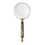 Magnifying Glass Horn Handle Zebra