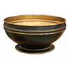 Brass Bowl on Pedestal in Dark Bronze