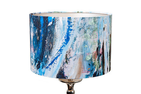 Captivating Small Into The Blue Lampshade