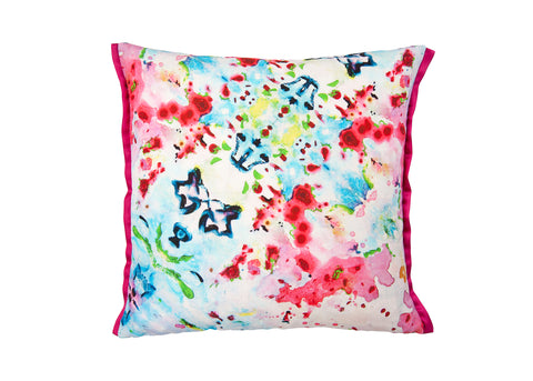 Abstract Floral - Floral Reflections Cushion