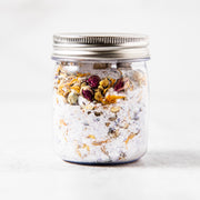 All natural botanical bath salts that help with sore muscles, includes roses, lavender, calendula, chamomile, jasmine. Fragrant bath tea salt. Botanical salts with moisturizing oils made in minneapolis