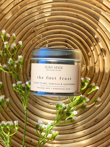 No. 1: The First Frost: Ylang-Ylang, Vanilla and Raspberry Soy Wax Candle