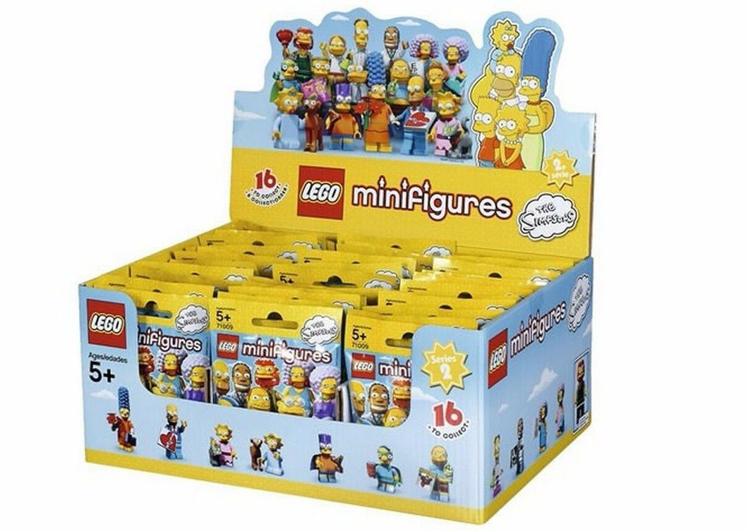 NEW SEALED LEGO Box/Case 71009 of 60 MINIFIGURES - The Simpsons Series 2