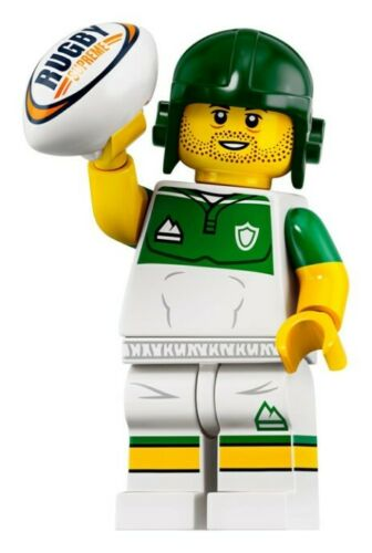 NEW LEGO MINIFIGURES SERIES 19 71025 - Rugby Player