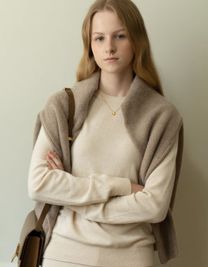 round neck knit (ecru)