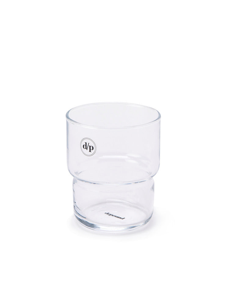 d/p logo mini glass