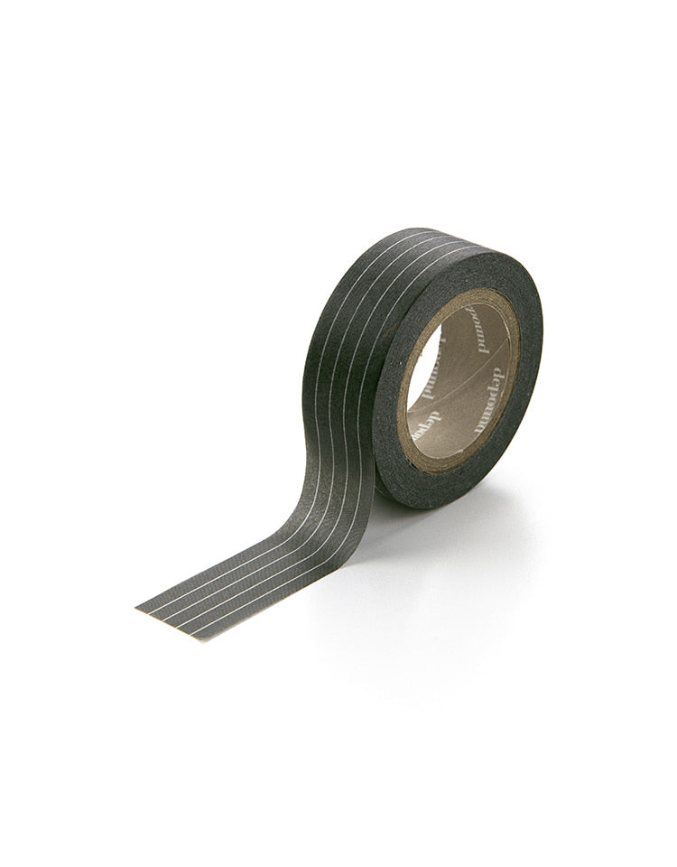 masking tape (stripe-charcoal)