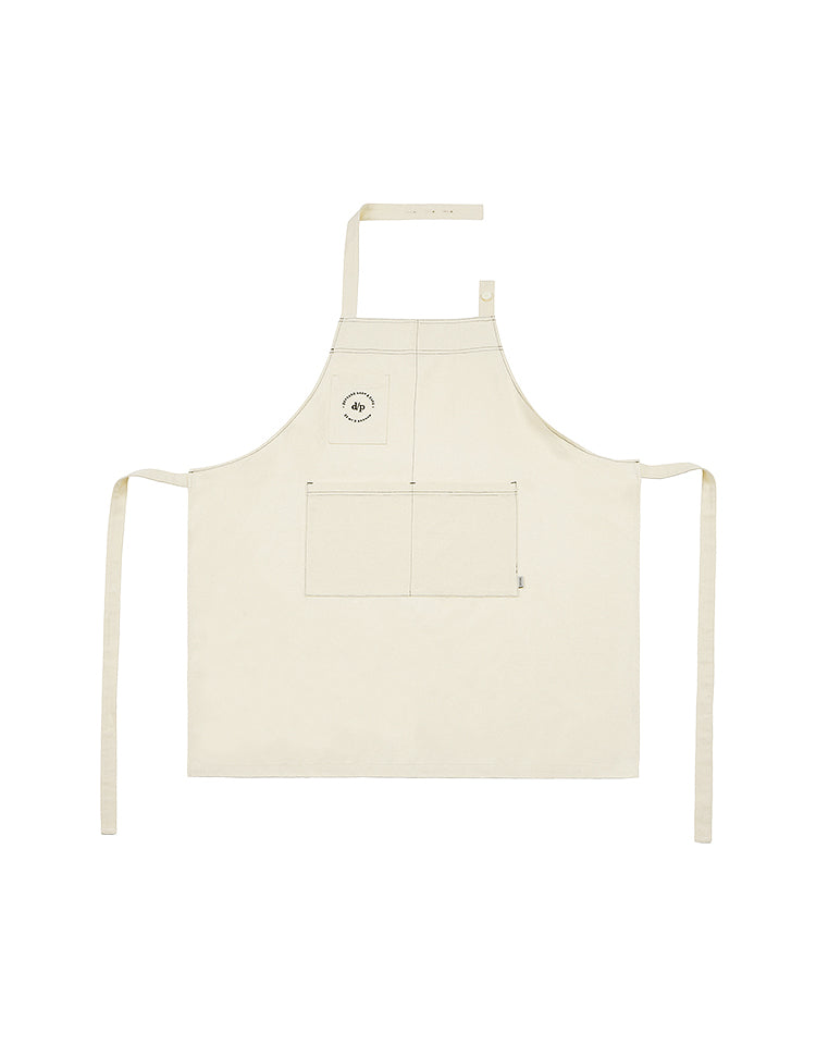 [BE MY D] stitch apron (ivory)