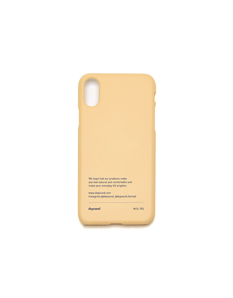 [BE MY D] phonecase (custard)