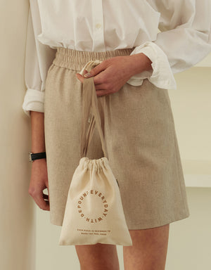 single pouch (M) - ivory