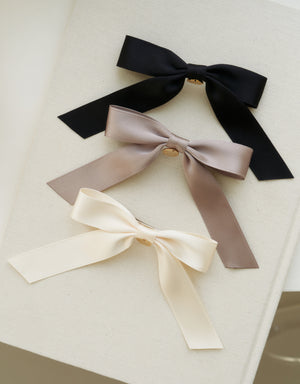 ribbon hair pin - gold