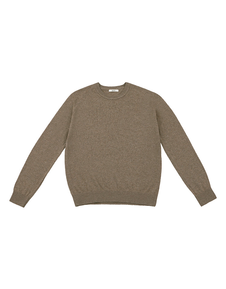 round neck knit (cocoa)