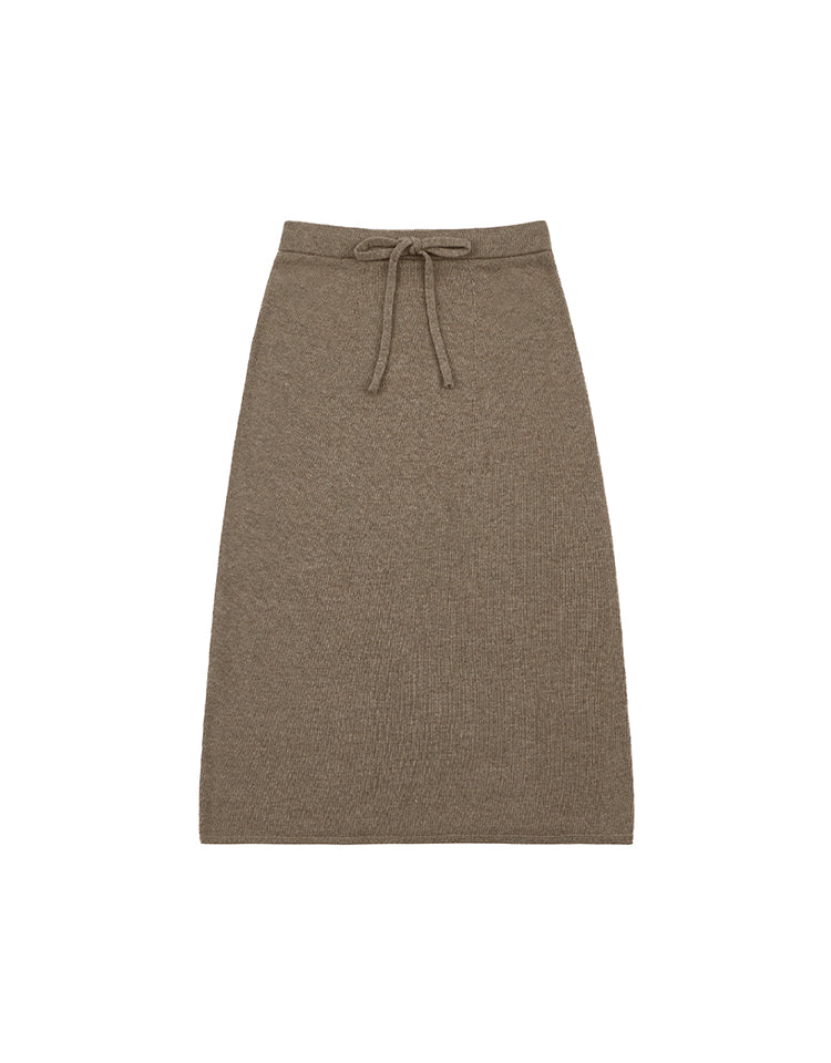 knit skirt (cocoa)