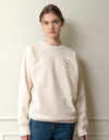 [BE MY D] logo sweatshirt (ivory)