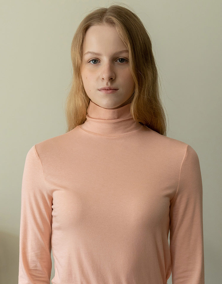 [pink edition] jersey turtleneck (pink)