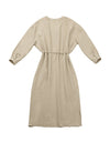 V-neck dress (beige)