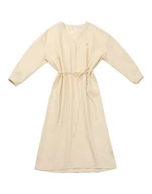 V-neck dress (pastel yellow)
