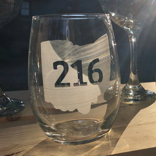 216 Ohio Stemless Wine, Rocks or Beer Can Glass