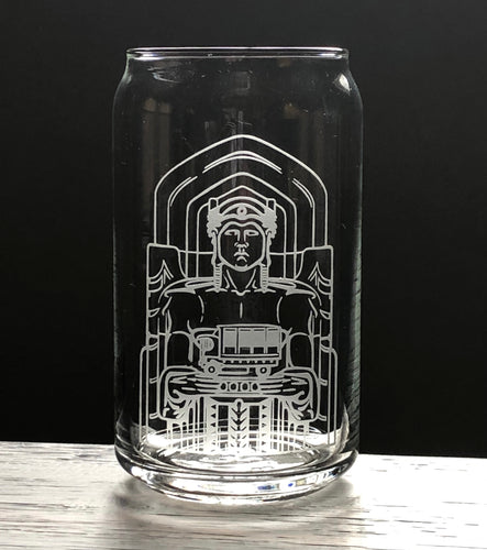 Cleveland Guardians of Traffic Beer Can Glass