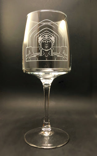 Cleveland Guardians of Traffic Wine Glass