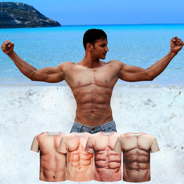 Muscle 3D Simulation Couple T-Shirts