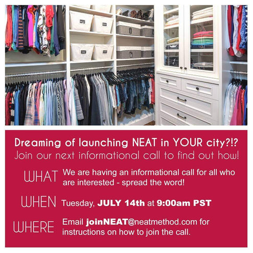 Want to be a NEAT Organizer? Here's Your Final Chance This Year!