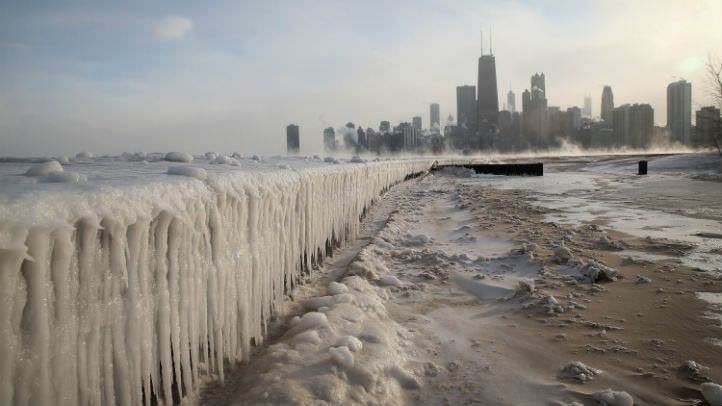 Chicago Winter, winter pics, city under ice, 100 days of summer