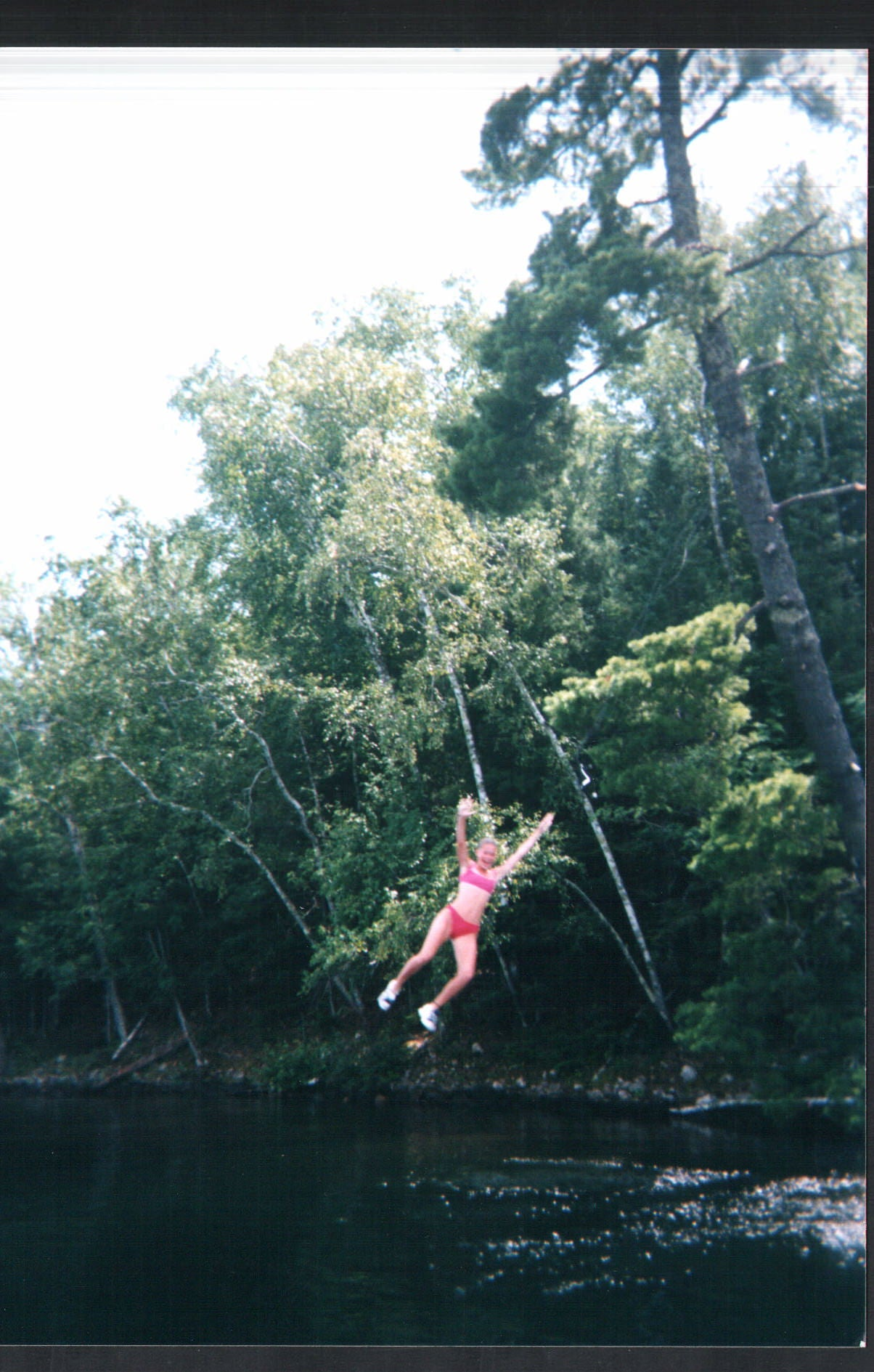 Rope swing, Boulder Junction, Wisconsin, cabin, White Sand Lake, Molly Heffinger, Molly Graves, water, summer