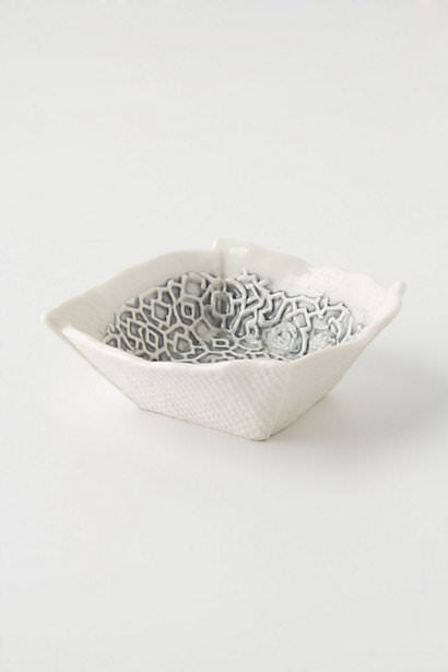 white and silver bowel, bowel, organizing tips, home decor, trinket dish, dish, organize,