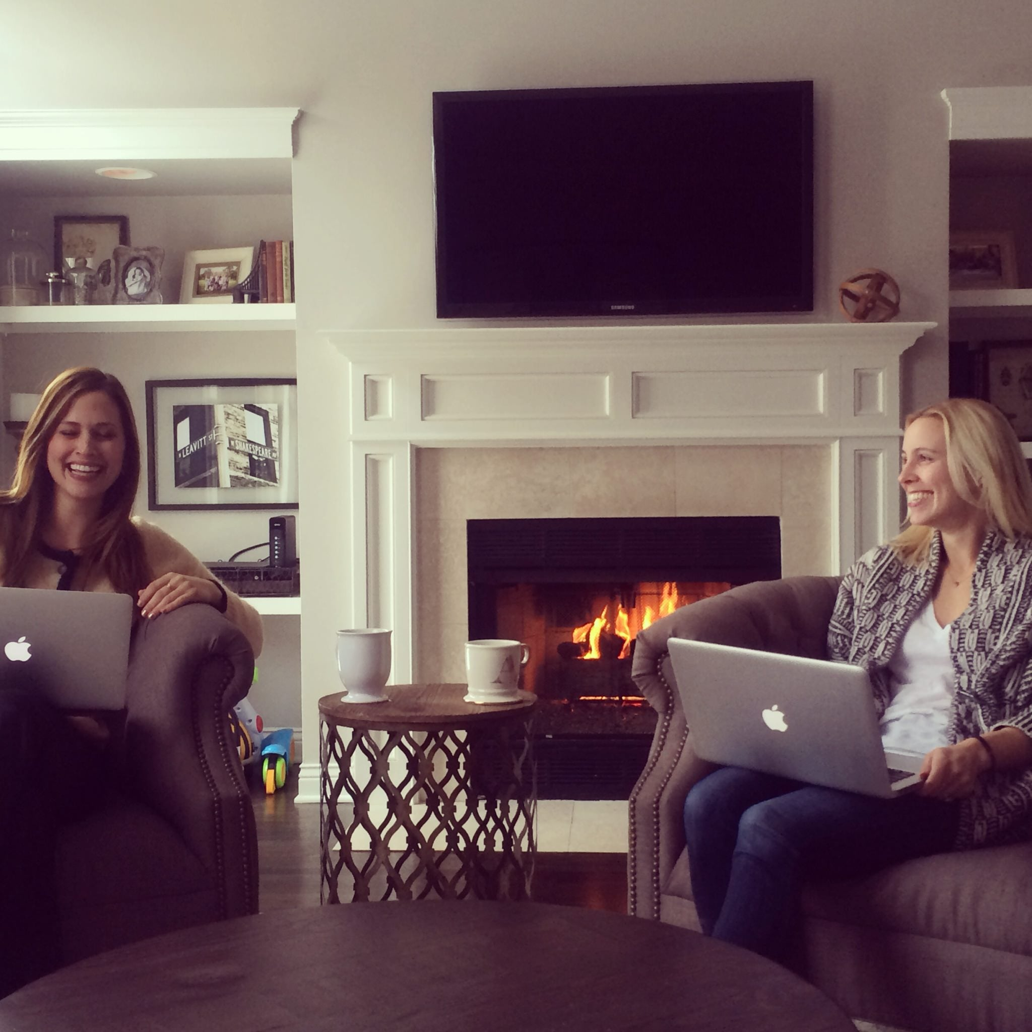 brooke ruder, ashley murphy, neat method, fireside pics, cozy setting