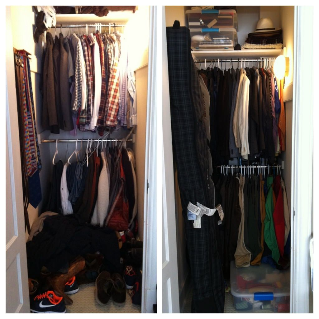 Brit Morin, Brit and Co, closet, full closet, unorganized closet, closet tips, DIY, home decor, home organization