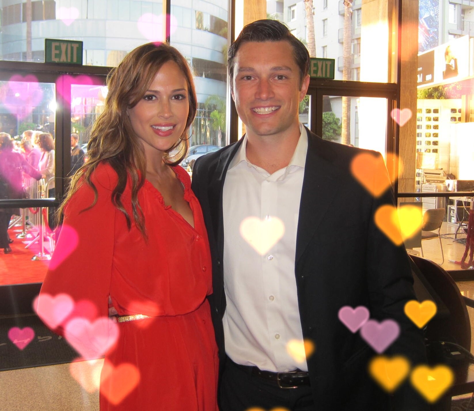 Brook Ruder, Andrew Neiman, couple, cute couple, Chicago, lady in red, valentines day, professional organizer