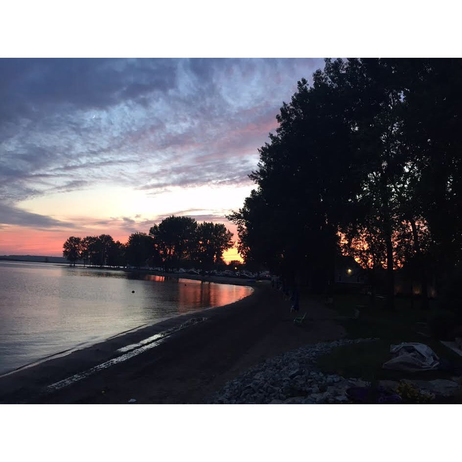 Columbus, Lake Erie, sunset, water, beach, dusk, twilight, Julia Purdy