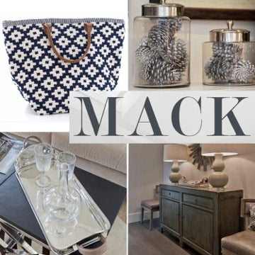 spring bags, spring 2014 style, Mack, make home decor, glass canisters, silver tray, entertaining ideas, media console