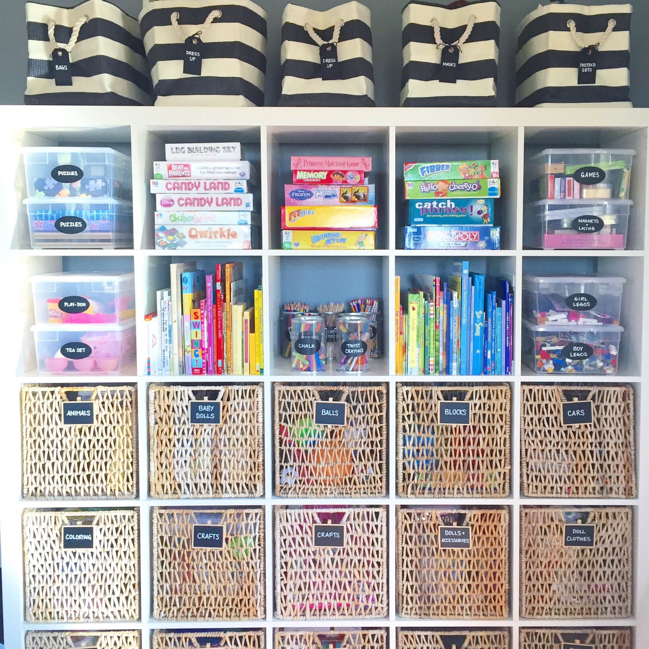 play room organization, playroom inspiration, color coded spaces, organized inspiration, design inspiration, design ideas