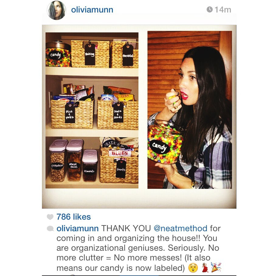 olivia munn, olivia munn candy, olivia munn hot, hot olivia munn, olivia munn model, olivia munn home, neat method, home organizers, organizing tips, candy jar, olivia munn neat method, neat oliivia munn