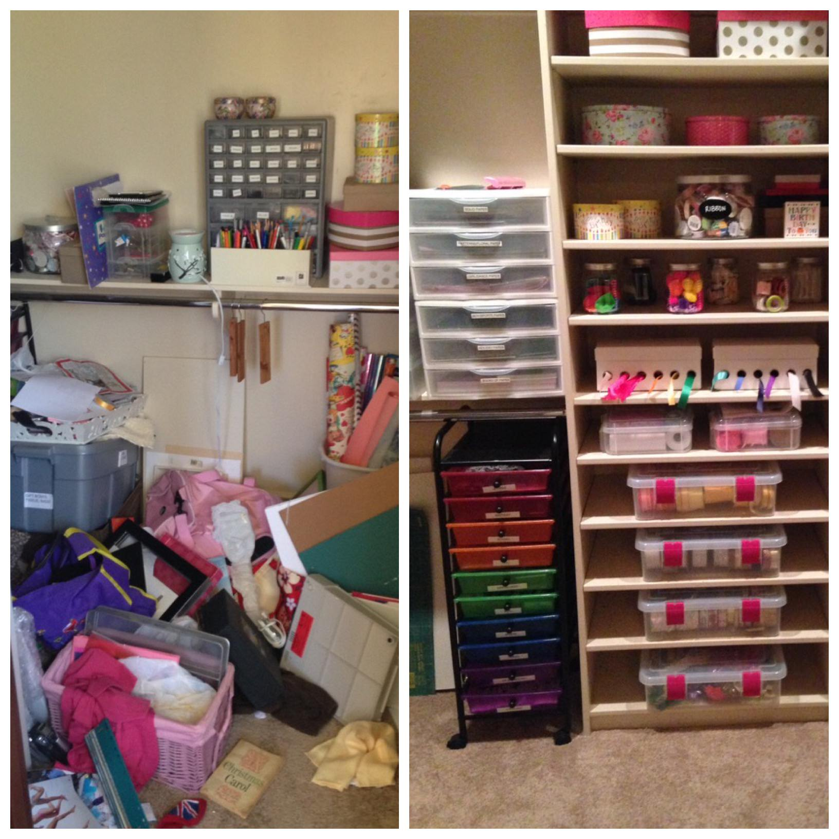 Katie Koentje, San Diego, professional organizer, home organization, organized home, home style, NEAT Method, San Diego, Orange County, Before and After, craft room, craft closet, inspiration