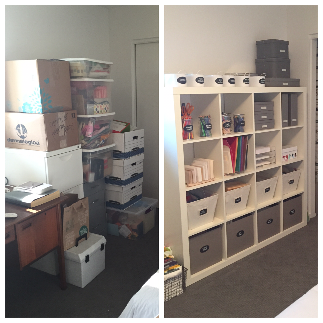 Mika Perry, Scottsdale, Phoenix, office, organized, professional organizer, home organization, before and after, DIY, filing, organizing tips, Ikea Expedit, home organization