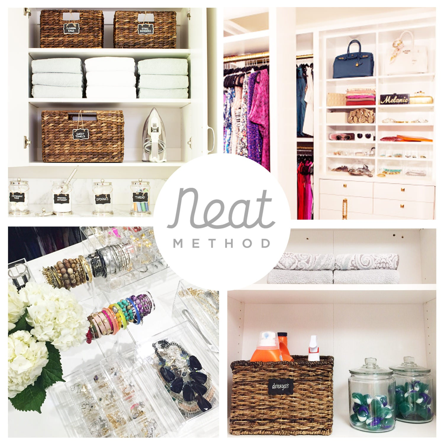 organized laundry room, pottery barn, organized closet, organized jewelry