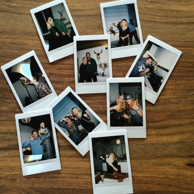 San Francisco, Molly Graves, Molly Heffinger, Ryan Graves, Dungeness, dungeness crab, new years, holiday party, polaroid, photoshoot, organized