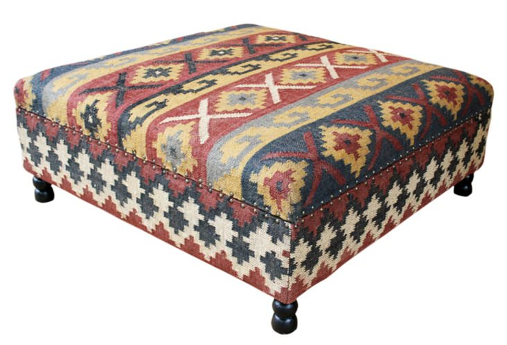 one kings lane, ottoman, storage ottoman, vintage ottoman, furniture, family room, organize, home organization, home organizing