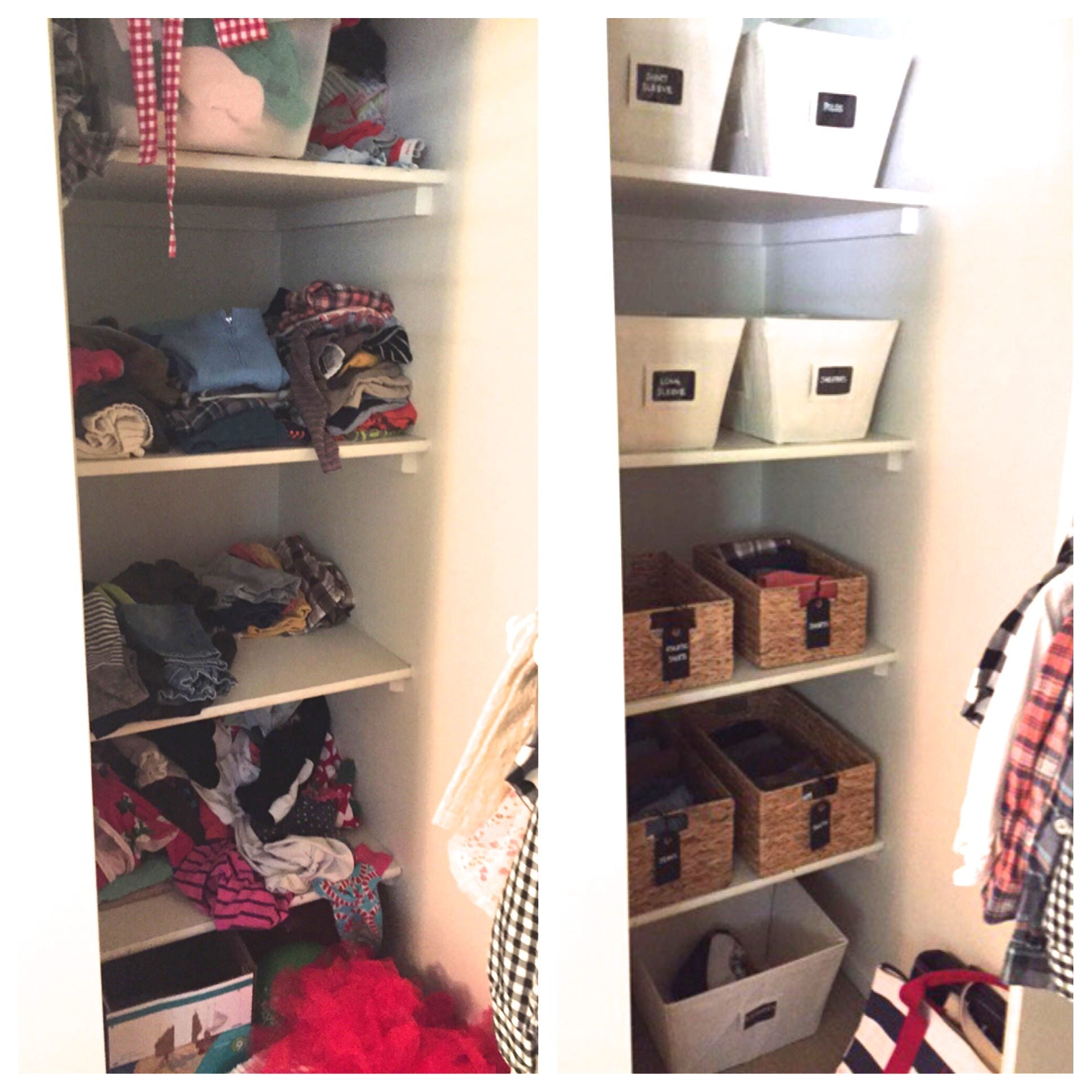 Professional organizer, Scottsdale, professional organizer scottsdale, home organization, Mika Perry, luxury residences, residential organization, before and after, children's closet, kids storage