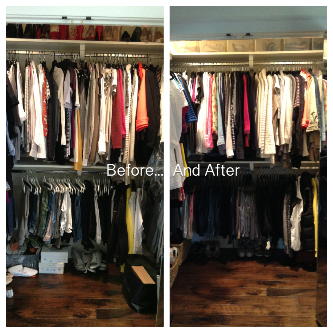 Professional organizer, San Francisco, Heather Gilligan, Heather Byrne, Molly Graves, Molly Heffinger, organized closet, before and after, color coded closet, beautiful closet, closet inspiration