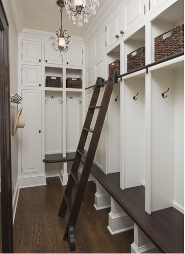 mudroom with Ladder, ladder, mudroom, organized mudroom