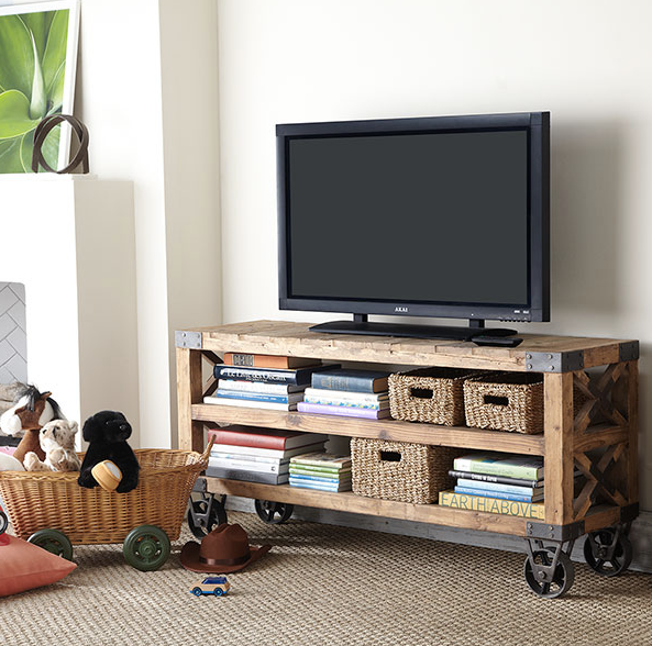 media console, recycled, eco friendly, pine furniture, home decor, earth day, earth week, organizing