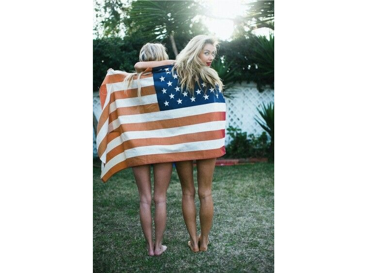 american flag, american flag girls, girls with american flag, usa flag, red white and blue, stars and stripes, 4th of july flag, veterans day, veteran's day