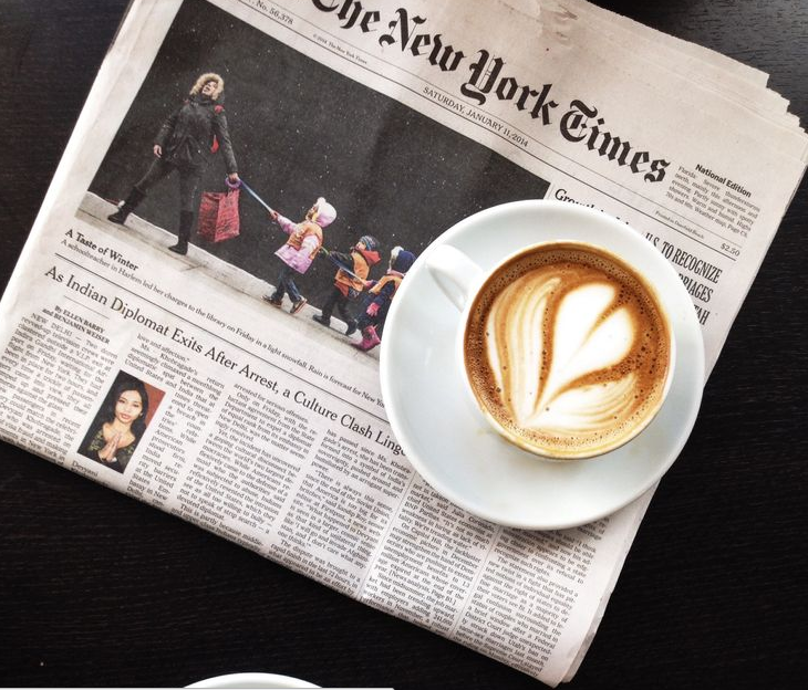 organized spaces, organized closet, neat, neat method, new york times, coffee and paper, paper and coffee, nyt, new york times and lattes