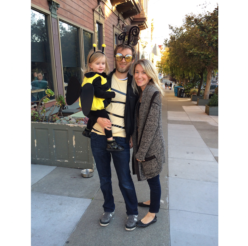 Family, Halloween, bees, bee costume, father daughter, San Francisco, Organizer, professional organizer, Lisa Ruff